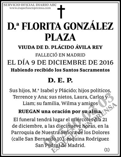 Florita González Plaza